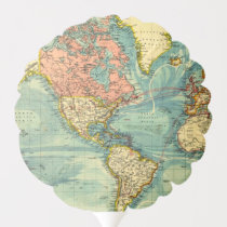 World Map Featuring United States Maps Geography Balloon