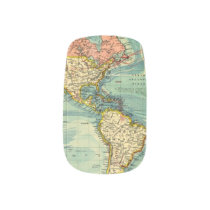 World Map Featuring United States Minx Nail Art