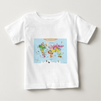 World Map For Kids - Cute and Fun T Shirt