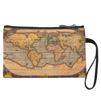 World Map from 1601 Wristlet Clutches