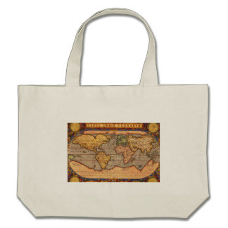 World Map from 1601 Tote Bags