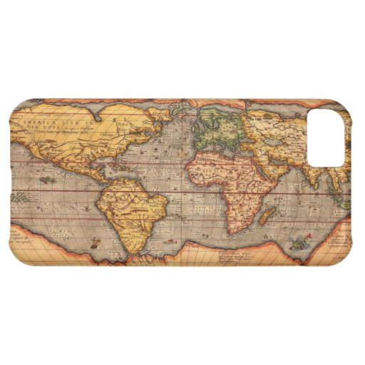World map from 1601 iPhone 5C covers