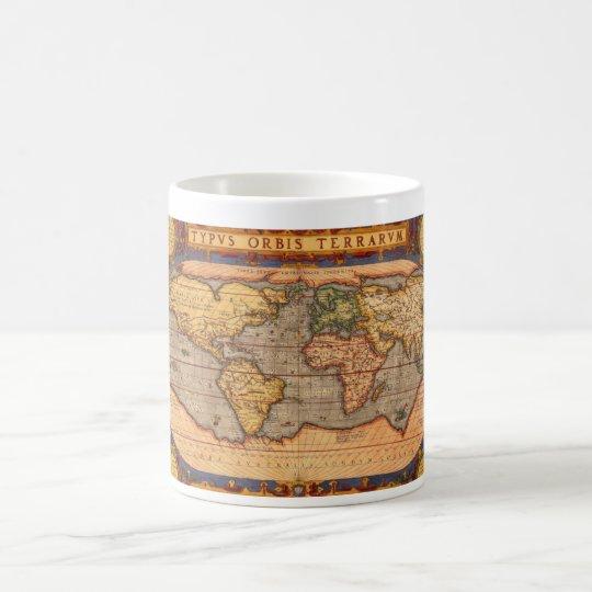 World map from 1601 coffee mug
