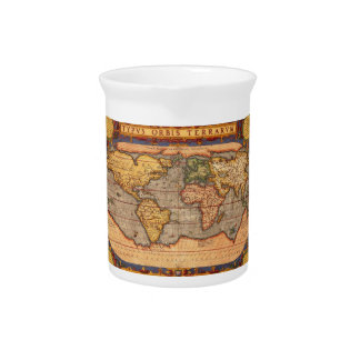 World map from 1601 pitchers
