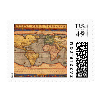 World Map from 1601 Postage Stamps