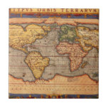 World map from 1601 tile