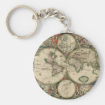 World Map from 1689 Keychain