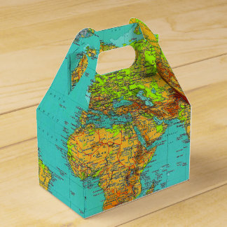 World Map - Gable Favor Box