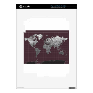 world map galaxy black and white 6 iPad 2 decal
