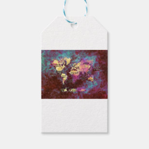 World map gift tags zazzle world map gift tags gumiabroncs