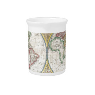 World Map Gifts Beverage Pitchers