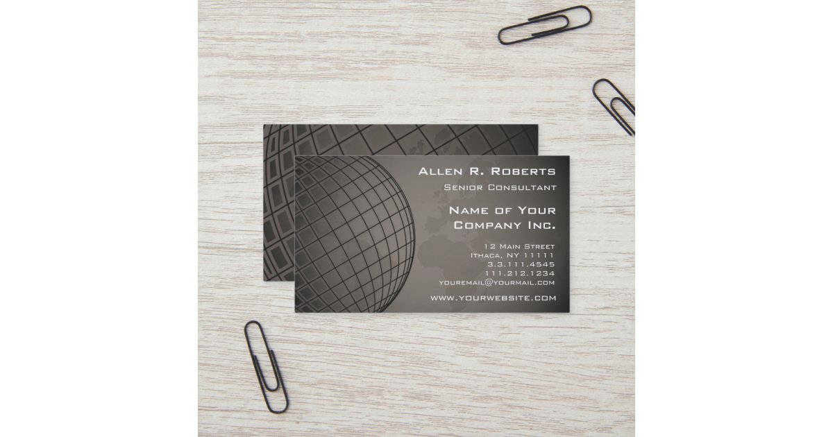 World Map Global Marketing Sales Corporation Business Card | Zazzle.com