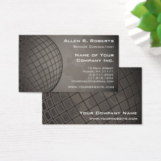World Map Global Marketing Sales Corporation Business Card
