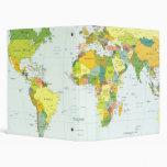 World Map Globe Atlas Countries 3 Ring Binder