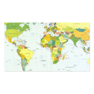 World Map Globe Atlas Countries Business Card