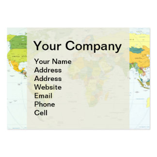 World Map Globe Atlas Countries Business Cards