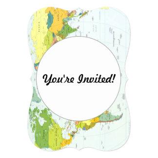 World Map Globe Atlas Countries Card