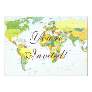 World Map Globe Atlas Countries Card