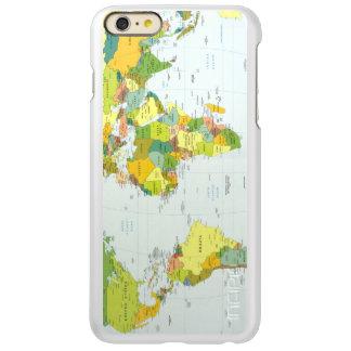 World Map Globe Atlas Countries Incipio Feather Shine iPhone 6 Plus Case