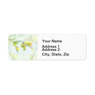 World Map Globe Atlas Countries Label