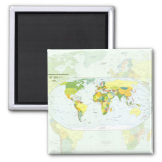 World Map Globe Atlas Countries Magnet
