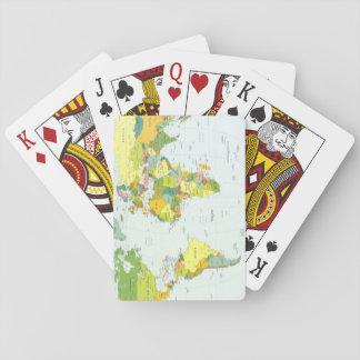 World Map Globe Atlas Countries Poker Cards