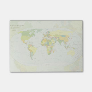World Map Globe Atlas Countries Post-it Notes