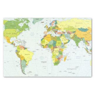 World Map Globe Atlas Countries Tissue Paper