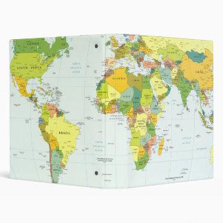 World Map Globe Atlas Countries Vinyl Binders