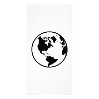 World map globe photo greeting card