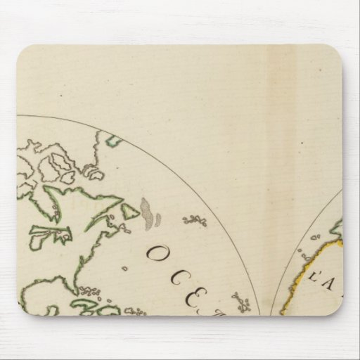 World Map in 4 Parts Mouse Pad