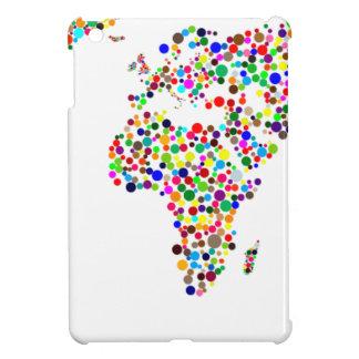 World Map in Circles iPad Mini Case