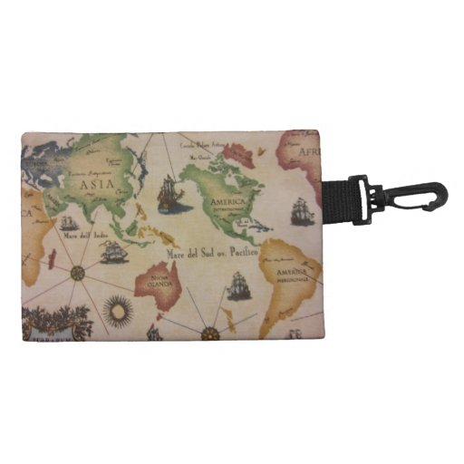 World Map in Color Accessories Bag