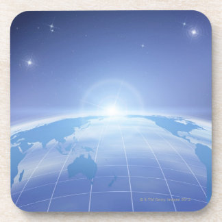 World Map in Space Drink Coaster