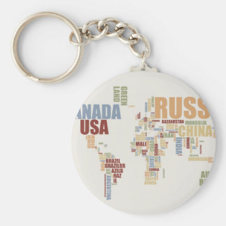 Modern world map keychains zazzle world map in words keychain gumiabroncs Image collections