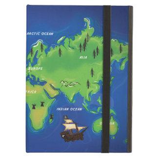World Map iPad Cases