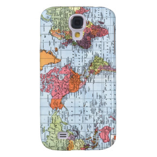 World Map iPhone 3G case Galaxy S4 Cover