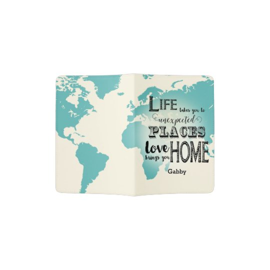 World Map Passport Holder.World Map Life Take You To Unexpected Places Love Passport Holder