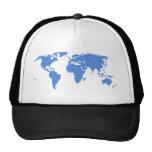 World Map Mesh Hat