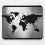 World Map Metal Mouse Pad