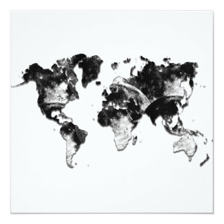 WORLD MAP - Moon Craters Card