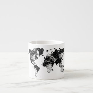 WORLD MAP - Moon Craters Espresso Cup