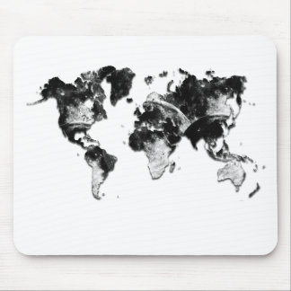 WORLD MAP - Moon Craters Mouse Pad