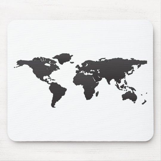 World Map Mouse Pad Zazzle Com