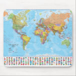 "World Map  Mousepad / Mousemat<br><div class=""desc"">This great World Map Mousepad is one of our bestsellers and is a great way to find out about the World. For any age.</div>"