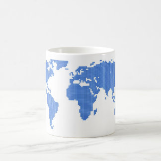 World Map Classic White Coffee Mug
