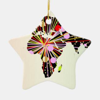 World Map New Year Ceramic Ornament