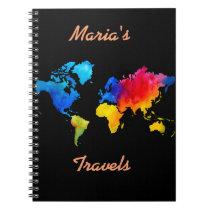 World Map. Notebook