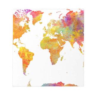 world map notepad