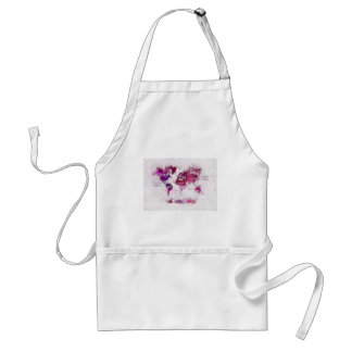 world map OCEANS and continents Adult Apron